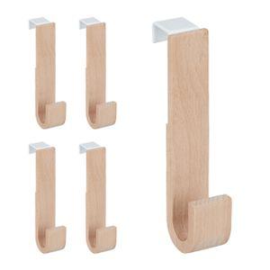 relaxdays Türhaken Holz 5er Set