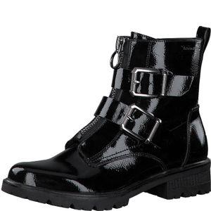 Tamaris Damen Stiefeletten Combat Boots  1-25414-25, Größe:38 EU, Farbe:Schwarz