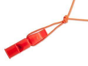 ACME Doppeltonpfeife mit Trill 641 6cm orange + Pfeifenband