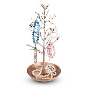 Mllaid Ohrringständer, Geldbaumförmiger Ohrringständer für die Aufbewahrung und Präsentation von Schmuck, Metallständer für die Aufbewahrung von Schmuck, geeignet für die Familie