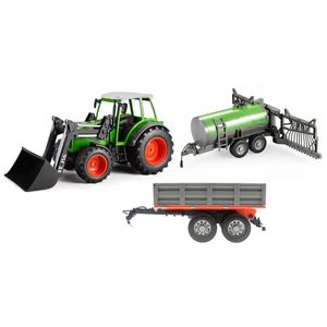 efaso Double E E356-003 RC Traktor mit Schaufel 2,4GHz 1:16 RC + Sprühanhänger S058-003 + Kippanhänger S053-003