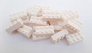 Lego© Steine 25 weiße originale basic Bausteine mit 2*4 Noppen *neu und unbespielt*