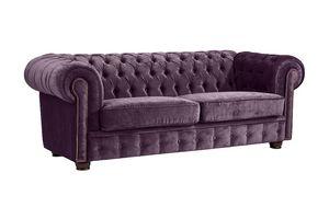 Max Winzer Norwin Sofa 2-Sitzer - Farbe: lila - Maße: 174 cm x 98 cm x 74 cm; 2909-2100-2044151-F07