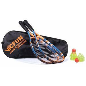 Vicfun Speed Badminton Junior 100   Badmintonschlägerset Schläger Set Federball