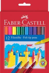 FABER-CASTELL Fasermaler 12er Kartonetui