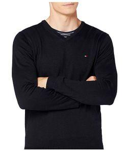 Tommy Hilfiger Herren Pullover V-Neck Schwarz  M