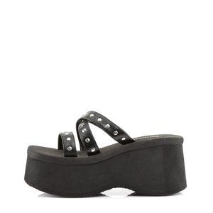 Demonia FUNN-19 Sandaletten schwarz, Größe:EU-36 / US-6 / UK-3