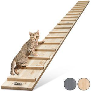 Elmato 13015 Katzentreppe 1 – 4 Meter erweiterbar (3 Meter mit 2 Verbindungsstücken)