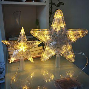 Tannenbaumspitze LED Weihnachtsbaumspitze Lampe Stern für Weihnachtsbaumspitze Christbaumspitze Licht - #2 Warm Weiß 30lights