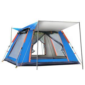MECO 6-7 Personen Pop-up Camping Zelt, 2 Doors Wasserdicht & Winddicht Ultraleichte Zelt für Trekking Camping Outdoor 240*240*154cm, Blau