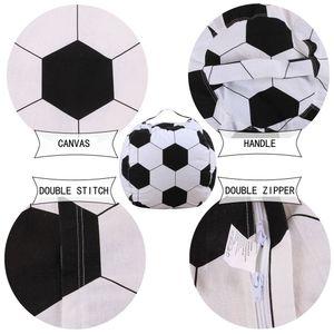 Kinder Kuscheltier Plüsch Fußballspielzeug Aufbewahrung Sitzsack Weiche Tasche Streifen Stoff