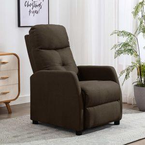 【Neu】Sessel Relaxsessel Braun Stoff Gesamtgröße:65 x 97 x 100 cm BEST SELLER-Möbel-Stühle-Sessel im Landhaus-Stil