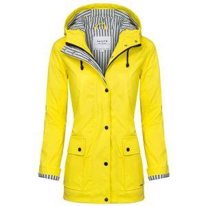HAILYS Damen Regenjacke, Farbe:gelb, Größe:M