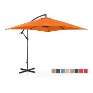 Uniprodo Ampelschirm - orange - rechteckig - 250 x 250 cm - neigbar