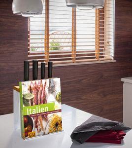Küchen-organizer Kochbuch-halter Halter für Tablet-PC´s uvm. Messerblock in weiß
