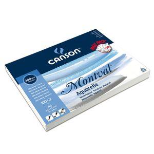 """CANSON Aquarellblock """"Montval"""" an langer Seite geleimt 320 x 410 mm 100 Blatt"""