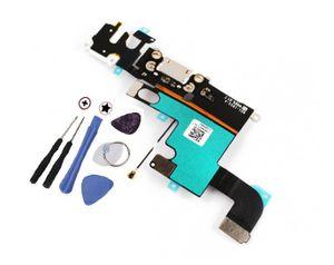 iPhone 6 Dock Connector USB Ladebuchse Audio Jack Flex Schwarz / Grau mit Werkzeug