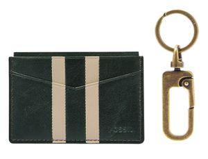FOSSIL Card Case Key Gift Set Spruce