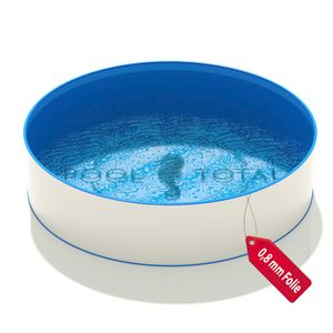 Pool Ø 4,00 x 1,20 m Folie blau 0,8mm EB Handlauf STYLE