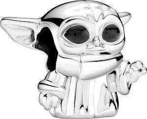 Pandora x Disney Star Wars Charm 799253C01 Star Wars The Child Silber 925 Schwarze Emaille
