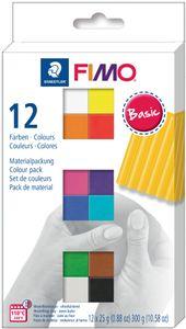 "FIMO SOFT Modelliermasse-Set ""Basic"" 12er Set 12 Blöcke à 25 g"