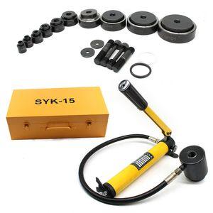 15T Hydraulische Blechlocher Kit,Lochstanze Puncher, Profi Ø 16-101mm Hydraulische Blechlocher Set