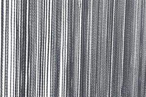 Fadenvorhang grau Türvorhang 90x250 cm uni Vorhang einfarbig Raumteiler