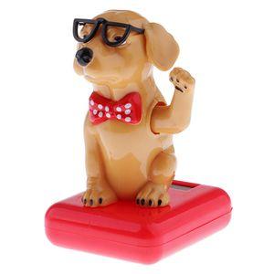 2 stk. Hund Wackelfigur Solarfigur Tanzende Dekofigur Dekoration