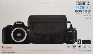 CANON EOS 2000D Kit Spiegelreflexkamera 18-55 mm Objektiv inkl. Tasche, Speicherkarte