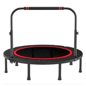 CAMTOA Fitness Jumping Trampolin mit Griff Indoor/Outdoor Faltbar Minitrampolin Ø121cm rund