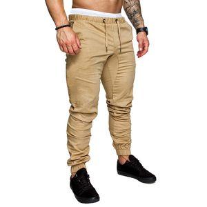 Mode Herren Casual Outdoors Solide Mehrtaschen-Arbeitshose Cargo Long Pants Größe:XL,Farbe:Beige