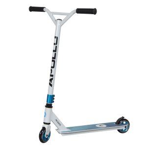 """Apollo Stunt Scooter """"Genius Pro 4.0."""" Kickscooter mit 100mm PolyurethanWheels Funscooter mit ABEC 9 - Weiß/Blau"""