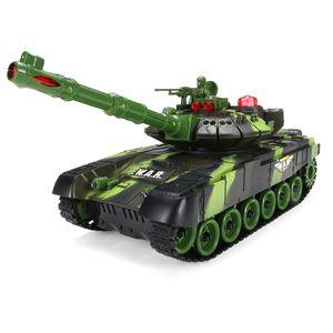Ferngesteuerter Panzer RC Tank Panzer Kinder Kampfpanzer Spielzeug LED-54cm Grün