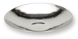 Ø 36,5 cm Aluminium Dekoschale Alu Schale Obstschale Dekoration Silber Gehämmert