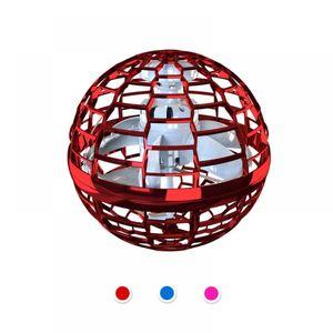 Supgaliy Flynova Pro Flying Ball Toys, Mini-Drohnen fur Kinder Erwachsene, RGB-Licht Flugspielzeug, Flying Spinner Flying Space Orb Toy, Geschenk fur Kinder Erwachsene Indoor Outdoor - 2021 Upgrade Upgrade Rot