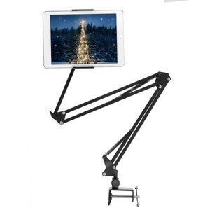 130cm Handy Tablet Halterung Bett Tisch Halter Schwanenhals Verstellbar für iPad