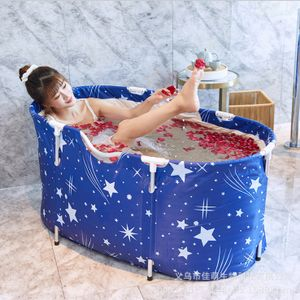 Faltbare Badewanne Erwachsene PVC Klappbadewanne SPA Badeeimer Wannenbad 120CM