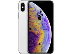 APPLE iPhone XS, Smartphone, 64 GB, Silber, Dual SIM