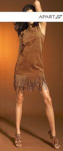 APART Velourslederkleid, cognac Kleider Größe: 34