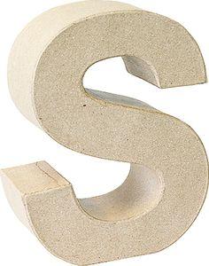 "KNORR prandell 3D-Buchstabe ""S"" Pappmaché 175 x 55 mm"