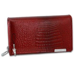 Jennifer Jones Leder Damen Frauen Geldbörse Kellnerbörse rot 16x4x10cm OPJ712R