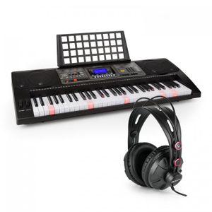 Schubert Etude 450 - Lern-Keyboard mit Notenständer und Kopfhörer , 61 Tasten (5 Oktaven, C2 - C7) , USB-MIDI-Player , LCD-Display , 460 Stimmen , 260 Begleitrhythmen , 65 Demo-Songs , schwarz