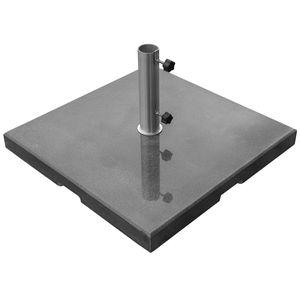 Sonnenschirmständer eckig schwarzer Granit 90 kg- ø 61 mm