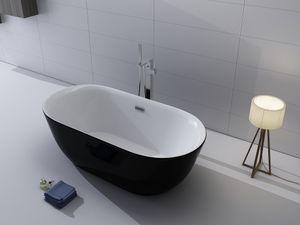 Badewanne Lamone schwarz freistehend
