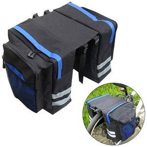 Multifunktionale Fahrrad-Rücksitztasche Fahrradkoffer Schulterhandtasche Packtasche