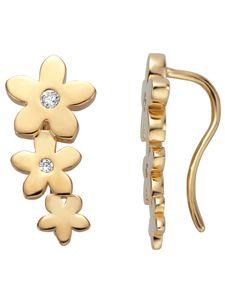 Esprit ESER01221200 Damen Ohrstecker Blume Bloom Silber 925 Gold weiß
