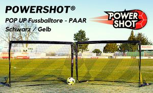 Pop Up Tor 180 x 120cm - Faltbares Fußballtor - 2er Set von POWERSHOT®