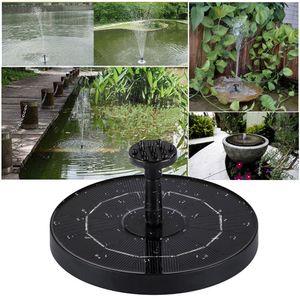 Solar Springbrunnenpumpe, Solar Teichpumpe Fontäne Teich Solarpumpe Solarbrunnen für Garten Outdoor Wasserpumpe