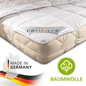 PROCAVE Baumwolle Unterbett in verschiedenen Größen - Matratzenauflage 140x200 cm mit 4 Eckgummis als Matratzenschoner - Soft-Matratzen-Topper