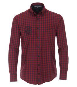 Casa Moda - Casual Fit - Herren Freizeit Hemd mit Button Down-Kragen (403555500), Größe:3XL, Farbe:Rot (400)